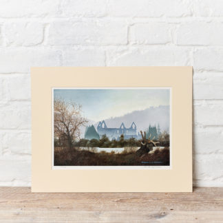 House across the lake painting by Patrick Oxenham