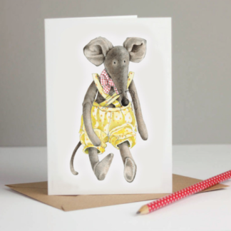 Mouse Greeting Card by Margaret Taylor