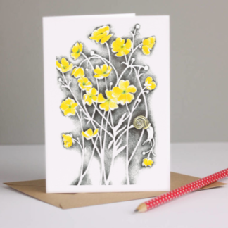 Buttercups Greeting Card by Margaret Taylor
