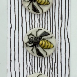 Hand-painted ceramic button Bees / Wasps